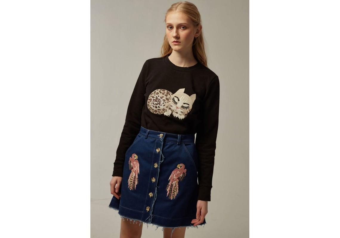 Denim skirt mini(Out Of Stock)