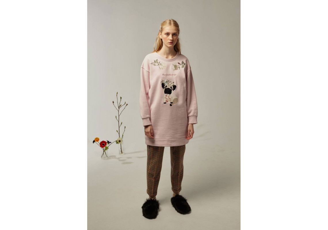 Pink sweatshirt lalkarka dogs(Out Of Stock)
