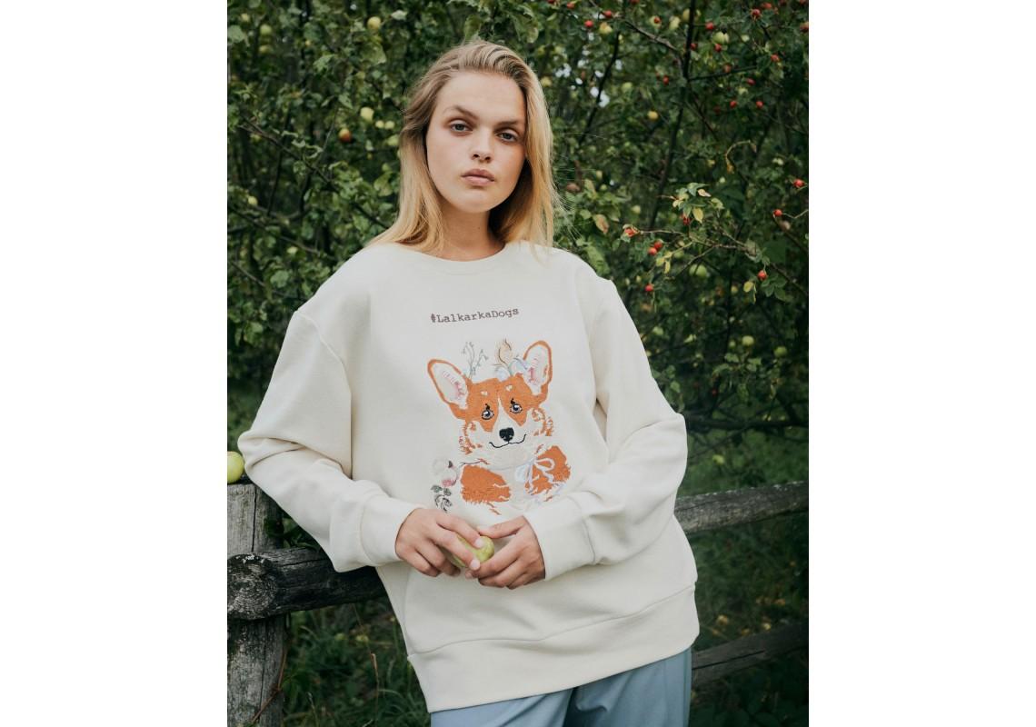 Embroidered Korgi sweatshirt