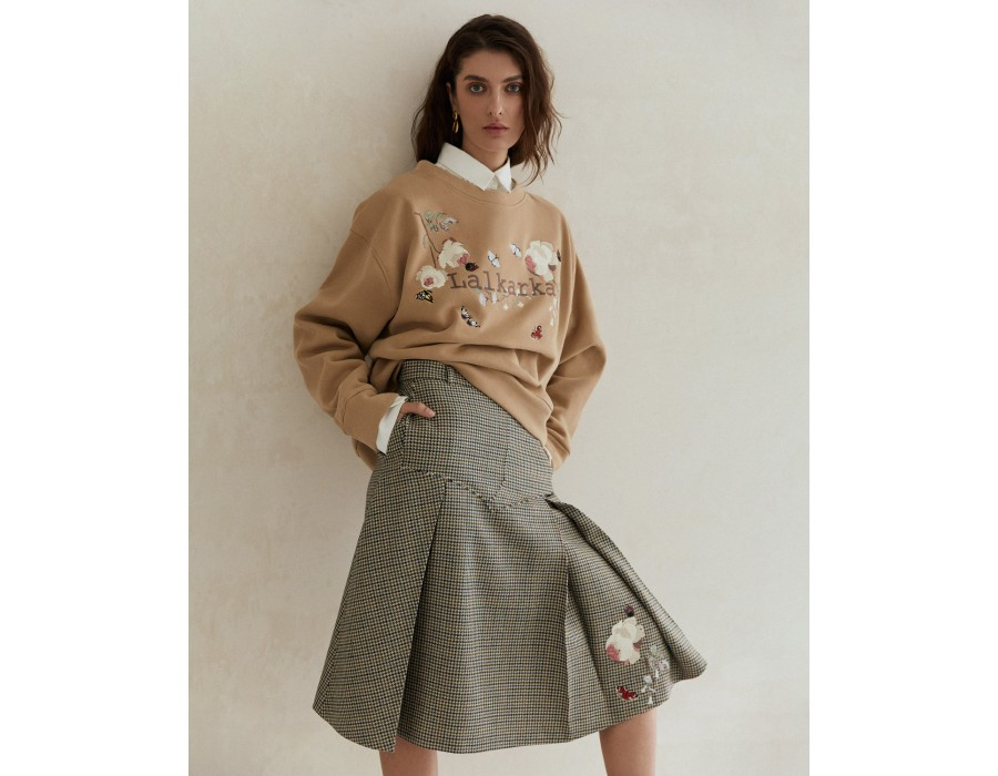 Embroidered sweatshirt LOGO