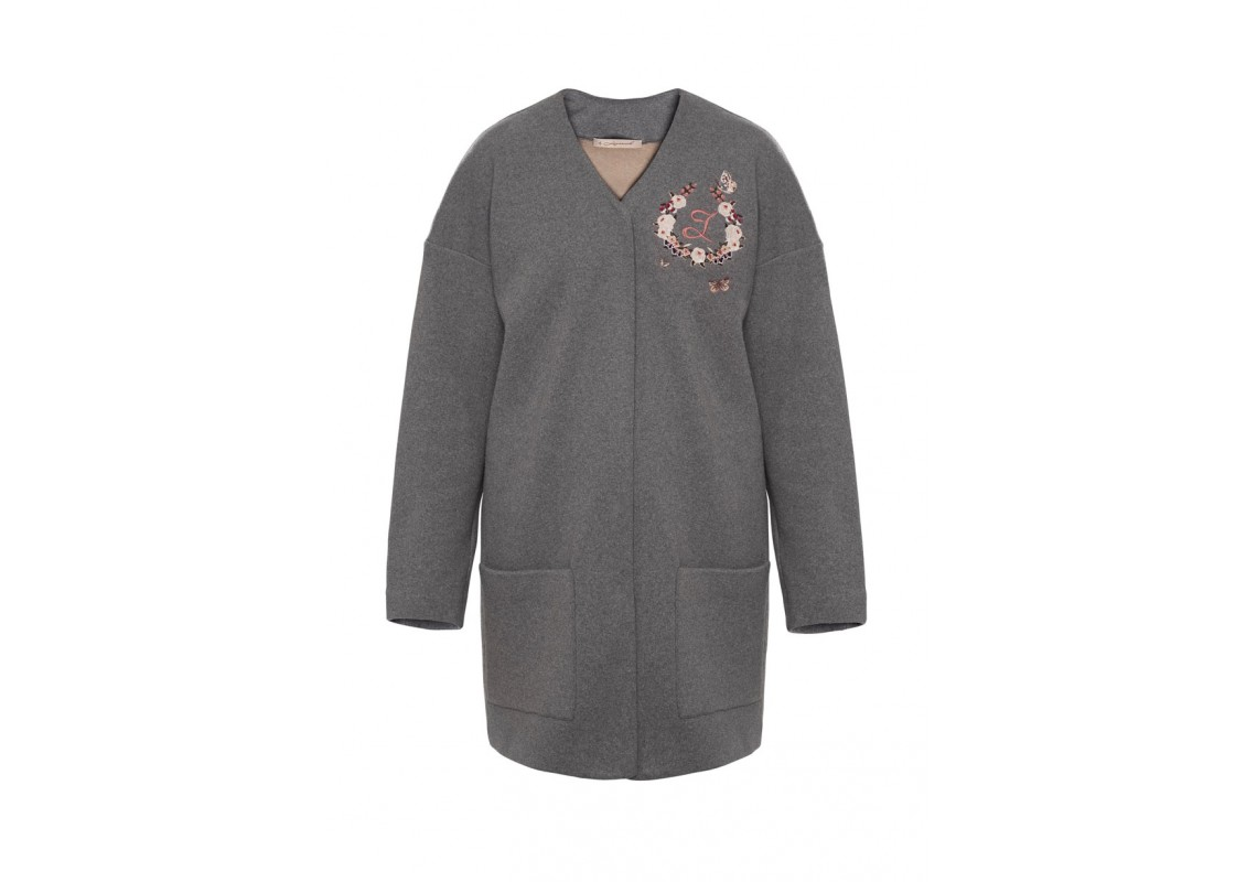 Embroidered Cotton Cardigan (Out Of Stock)