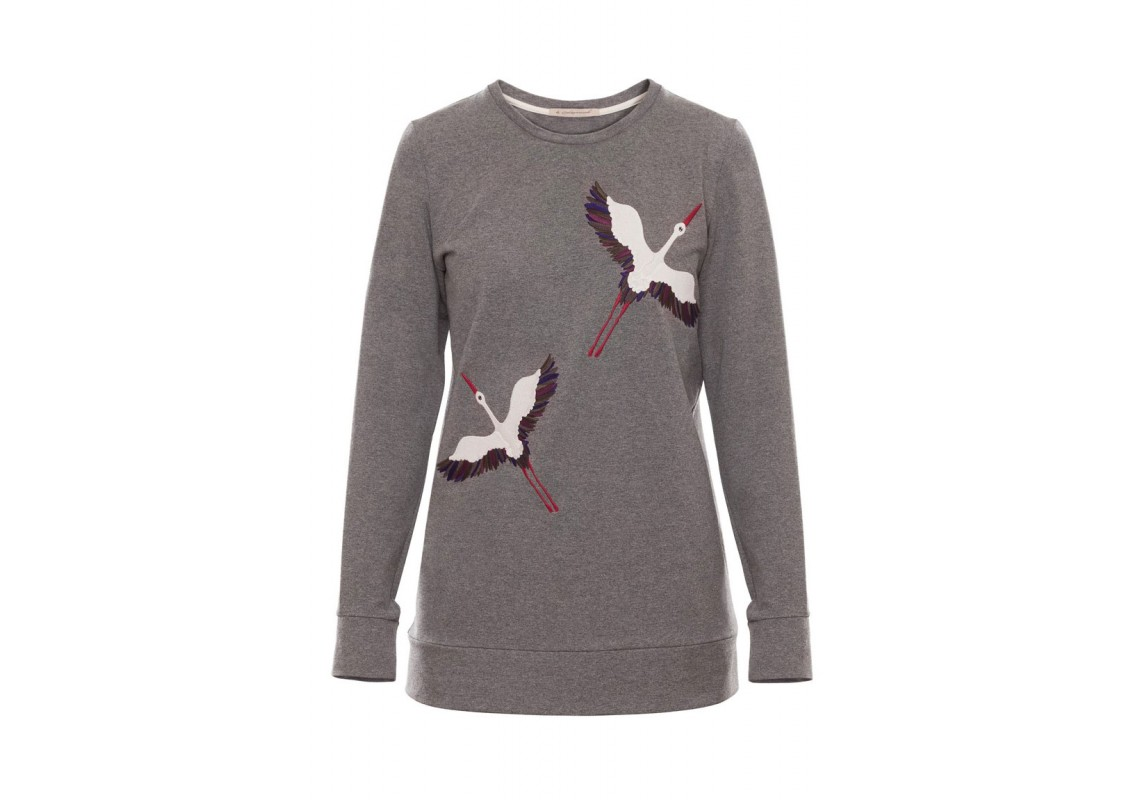 Embroidered Sweatshirt Grey Storcks (Out Of Stock)