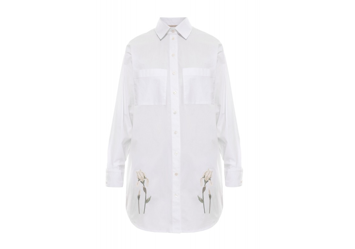 Embroidered white t-shirt Iris