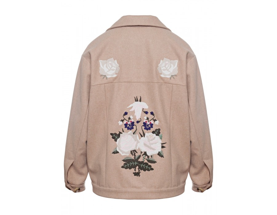 Embroidered Wool Coat(Out Of Stock)