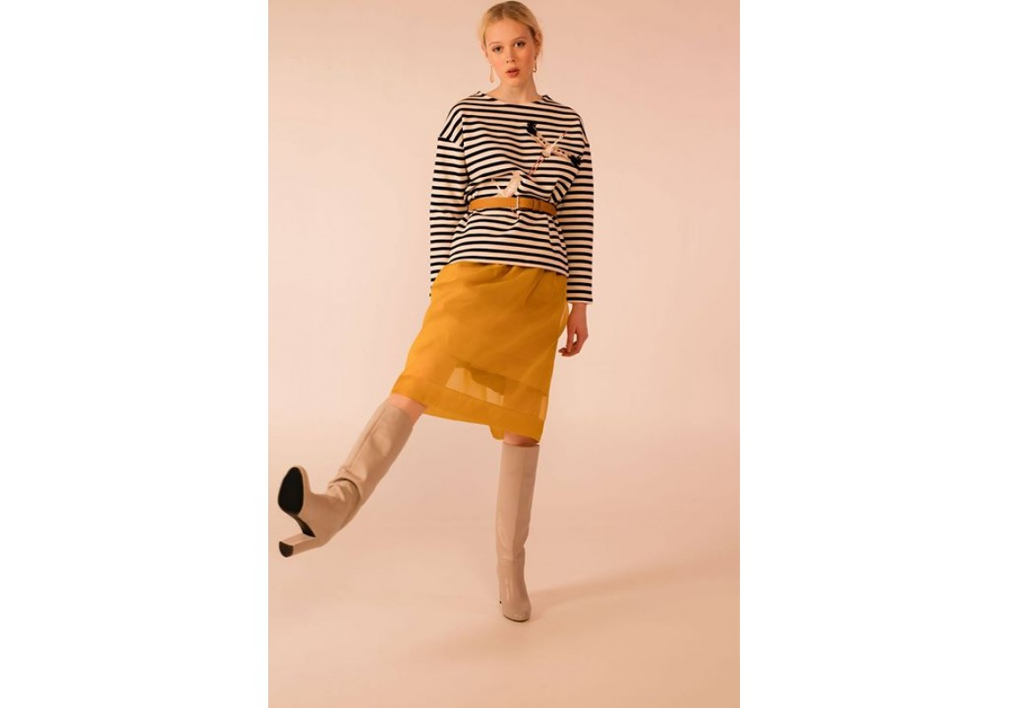Striped sweatshirt storks(Out Of Stock)