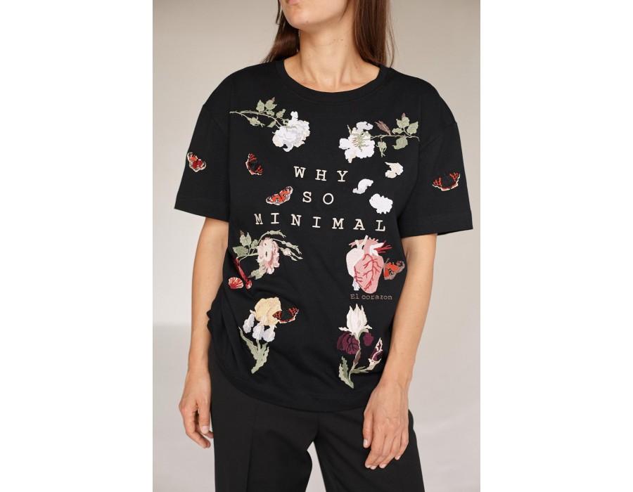 Black t-shirt Why so minimal