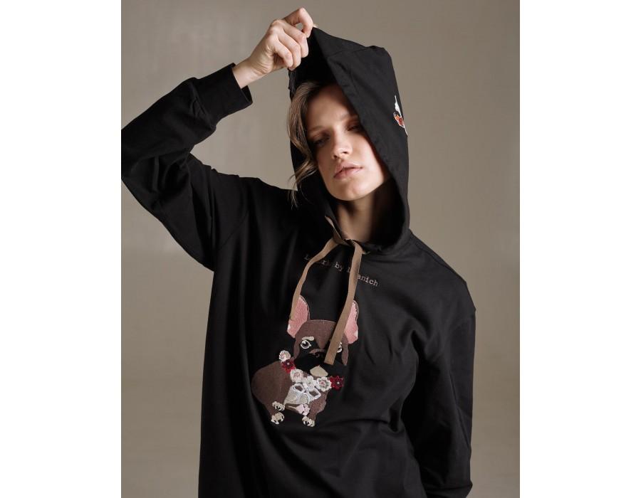 Black long hoodie #lalkarkadogs